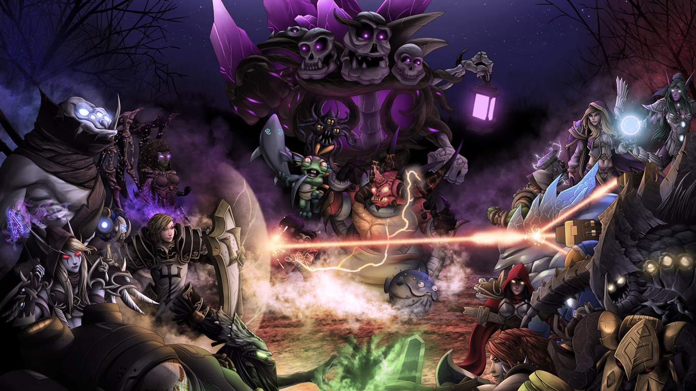 Free Heroes of the Storm Wallpaper in 1366x768