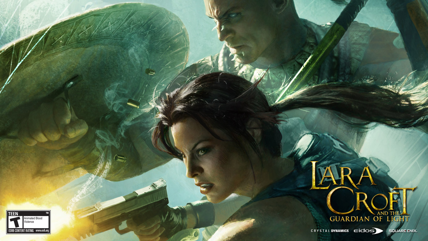 Lara Croft and the Guardian of Light Wallpaper in 1366x768