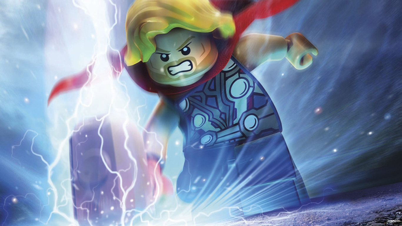 Free Lego Marvel Super Heroes Wallpaper in 1366x768