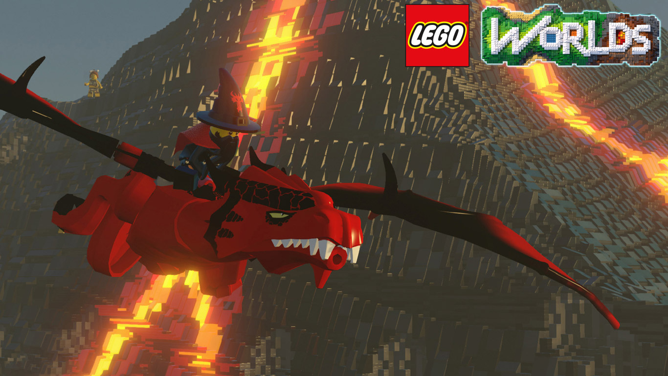 Free Lego Worlds Wallpaper in 1366x768