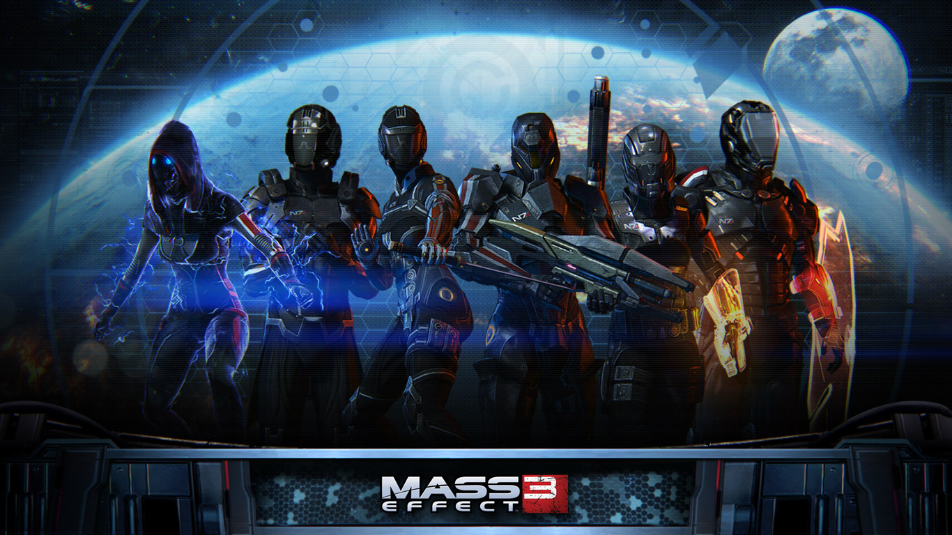 Free Mass Effect 3 Wallpaper in 1366x768