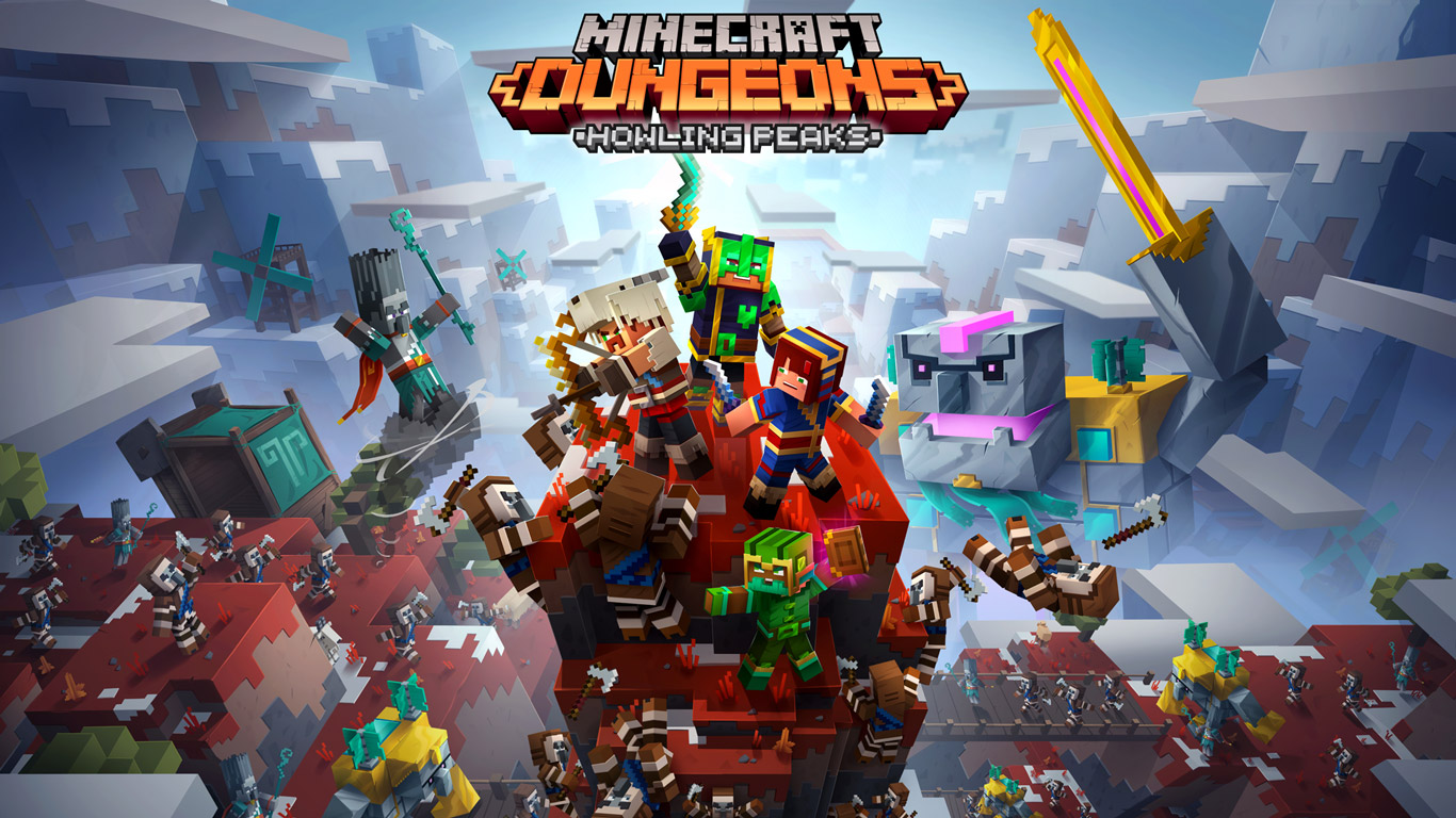 Free Minecraft Dungeons Wallpaper in 1366x768