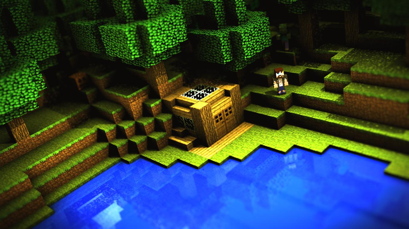 Free Minecraft Wallpaper in 1366x768
