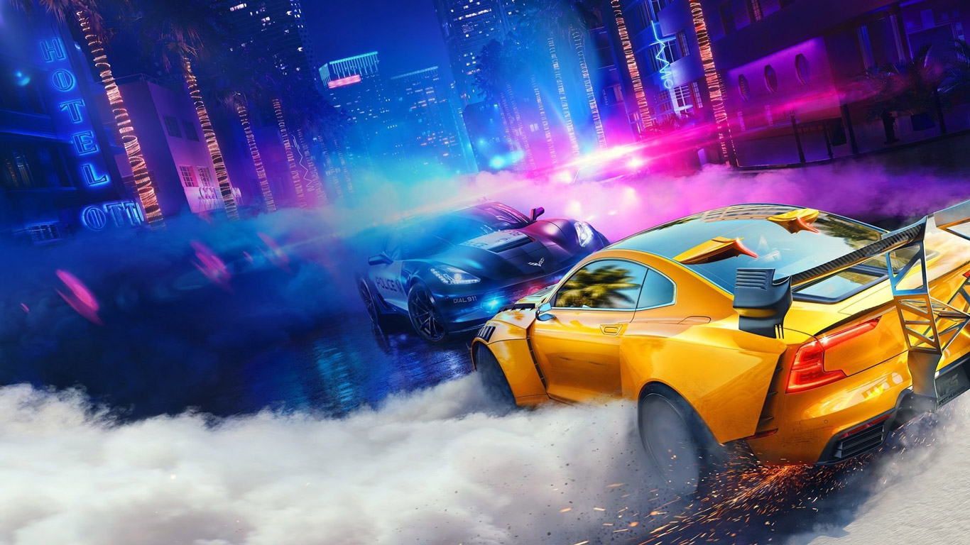 Need for Speed Heat Wallpaper in 1366x768