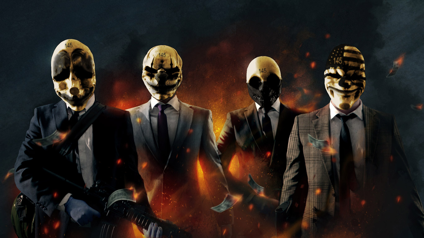 Free Payday: The Heist Wallpaper in 1366x768