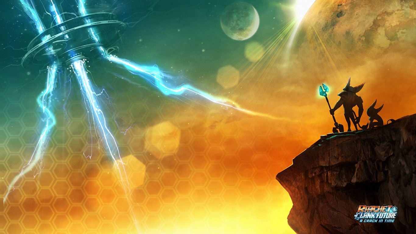 Free Ratchet & Clank Future: A Crack in Time Wallpaper in 1366x768