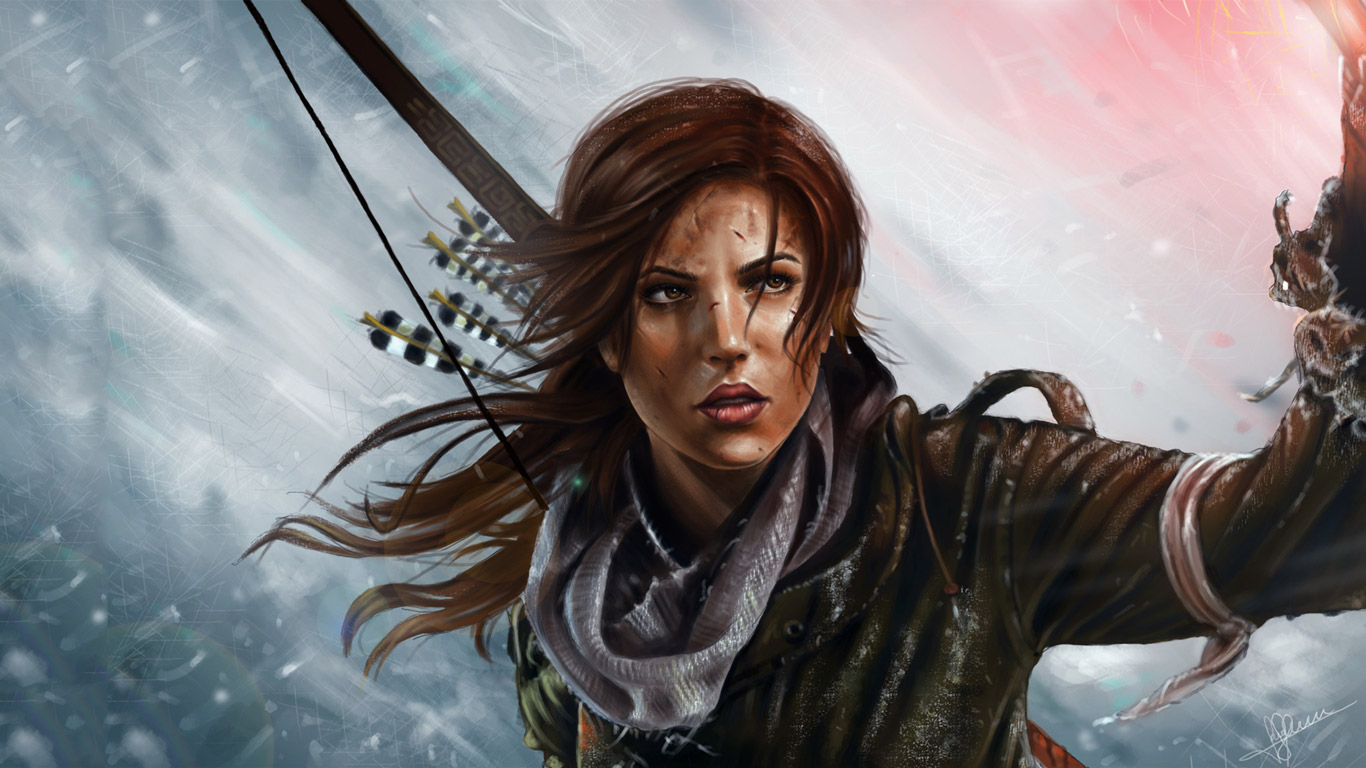 Free Rise of the Tomb Raider Wallpaper in 1366x768