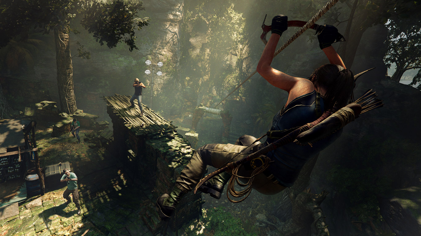 Free Shadow of the Tomb Raider Wallpaper in 1366x768