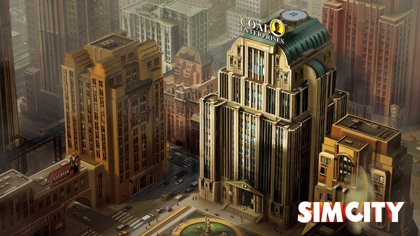 Free SimCity Wallpaper in 1366x768
