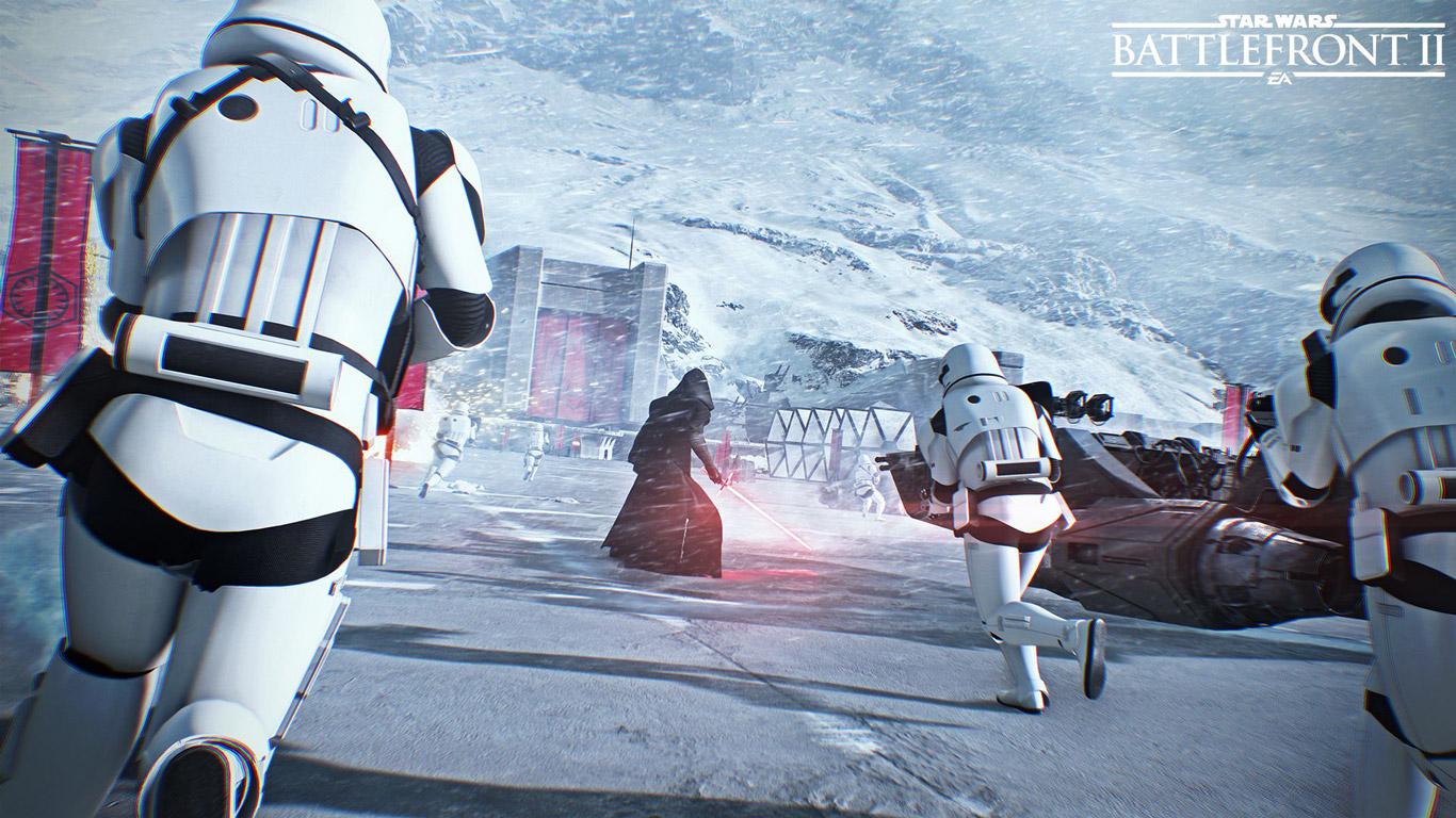 Free Star Wars: Battlefront II Wallpaper in 1366x768