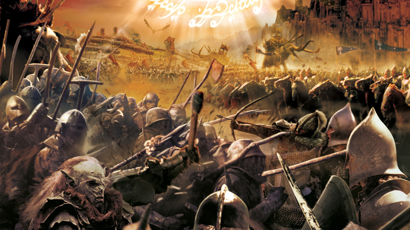 Free The Lord of the Rings: The Battle for Middle-earth Wallpaper in 1366x768