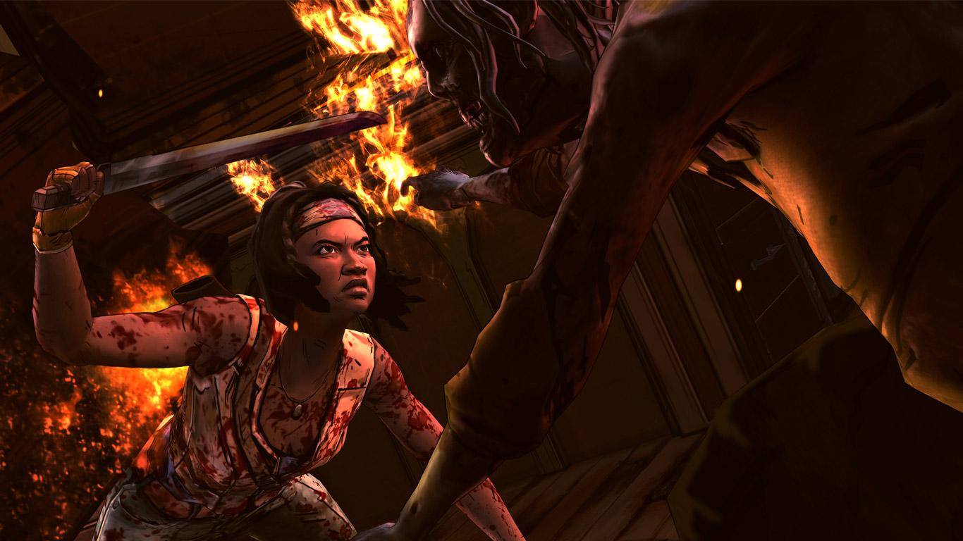 Free The Walking Dead: Michonne Wallpaper in 1366x768