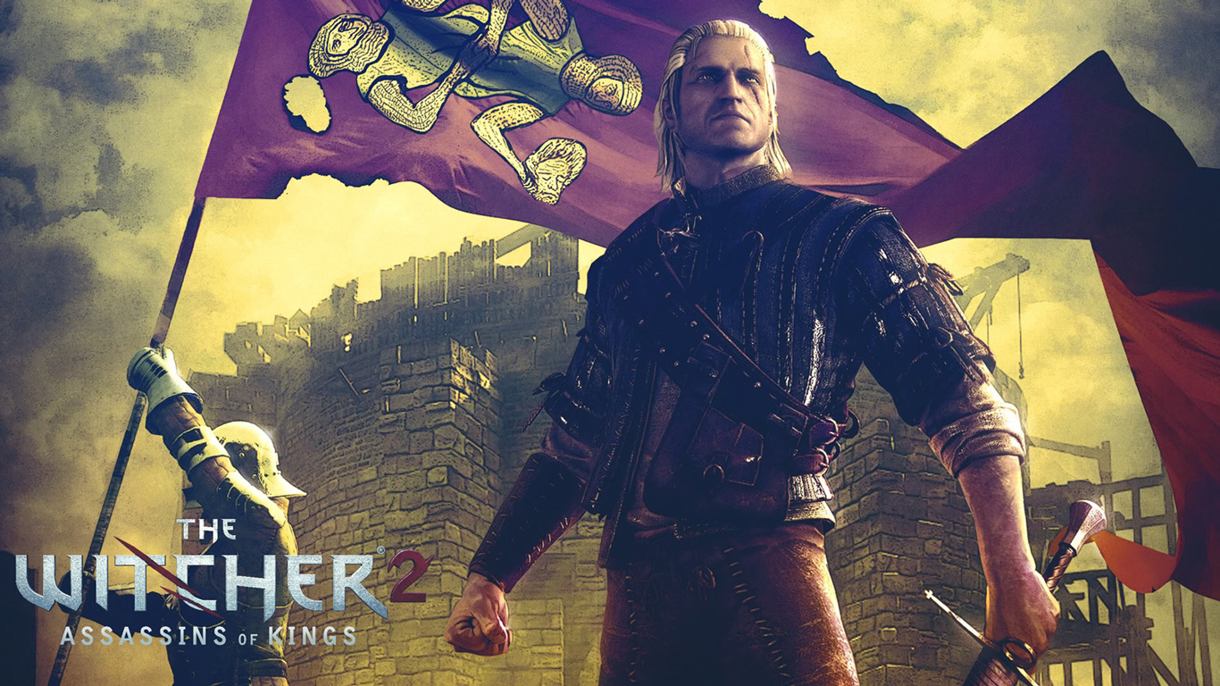 Free The Witcher 2 Wallpaper in 1366x768