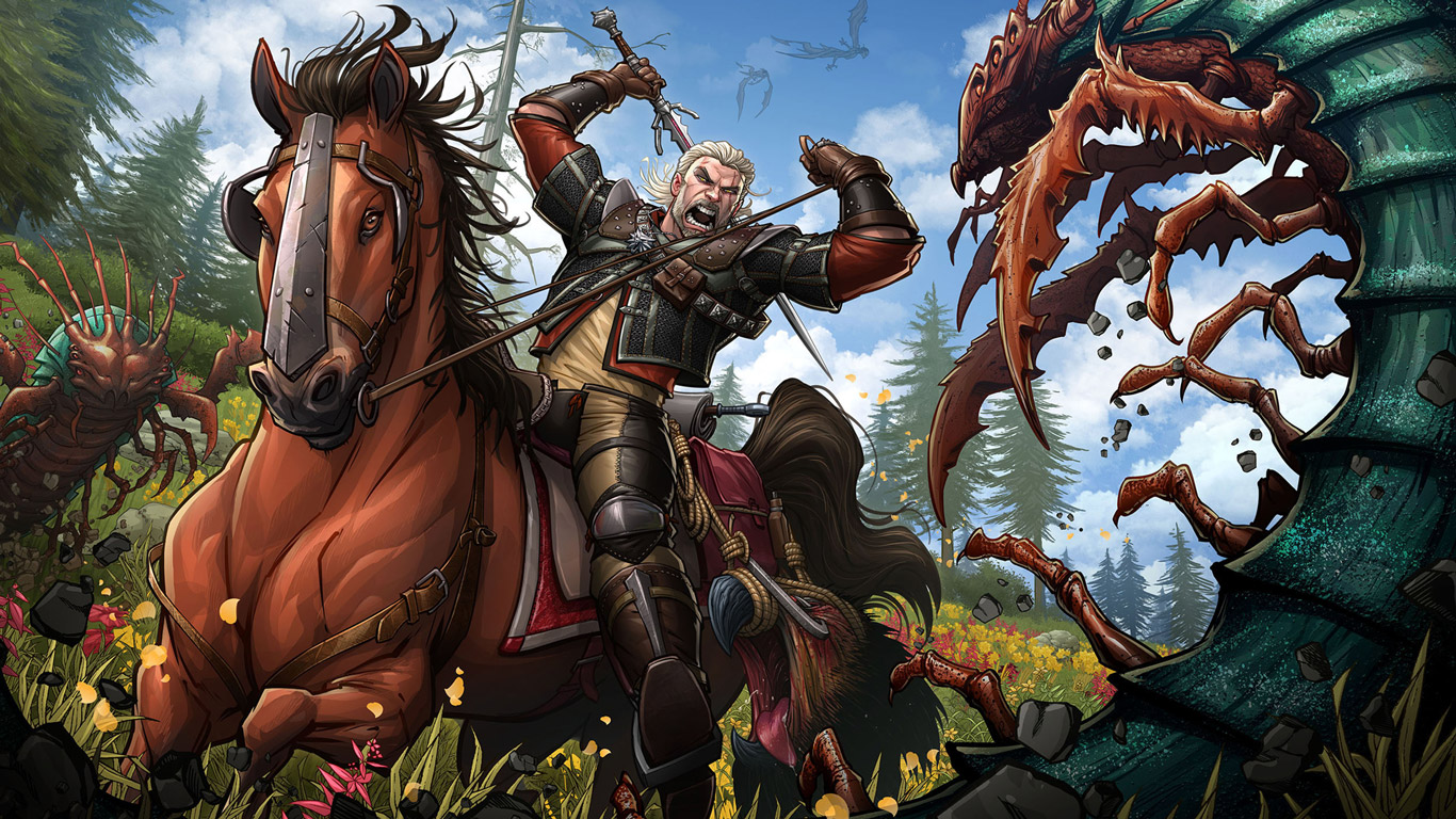 Free The Witcher 3 Wallpaper in 1366x768