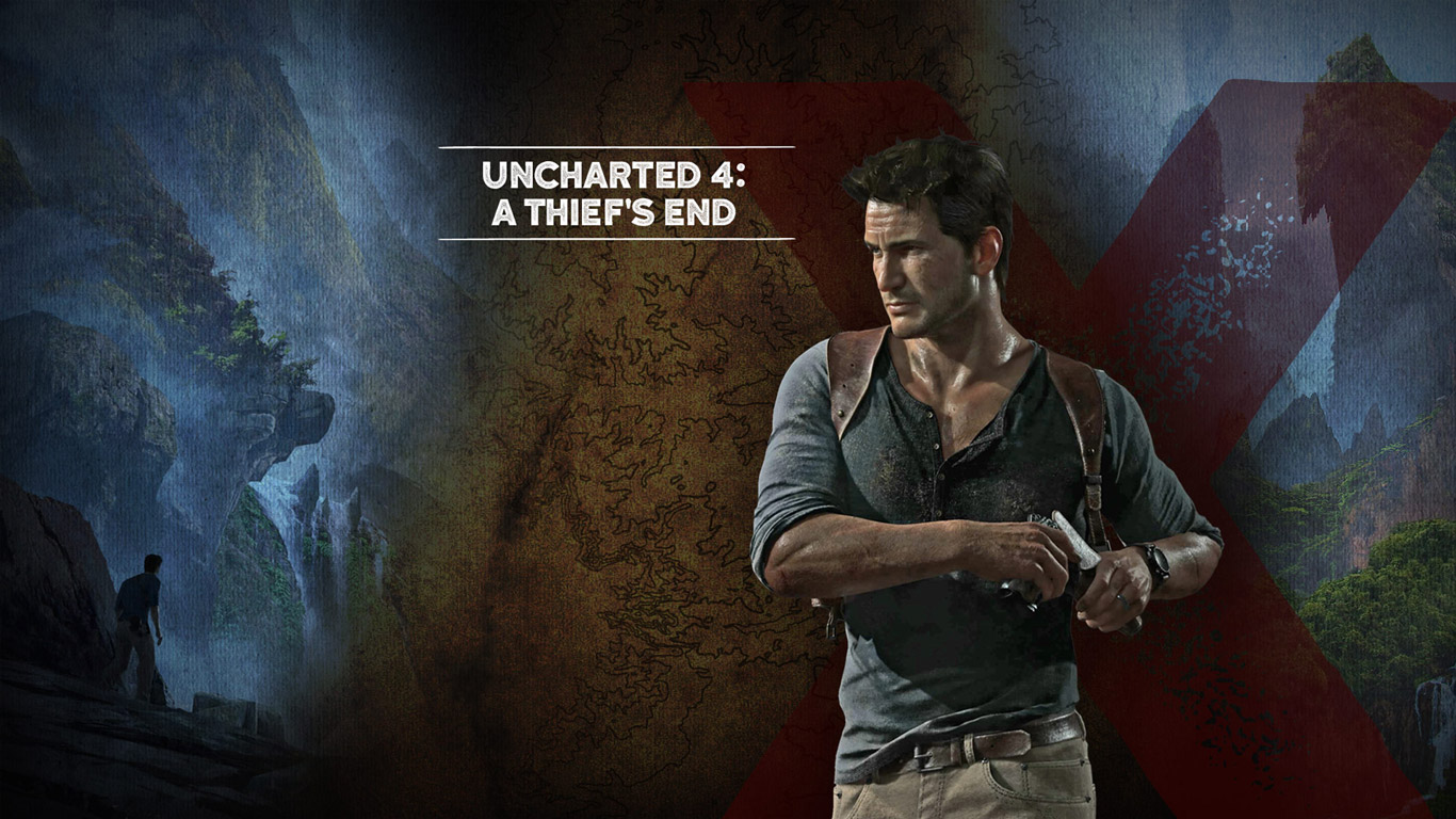 Free Uncharted 4: A Thief's End Wallpaper in 1366x768