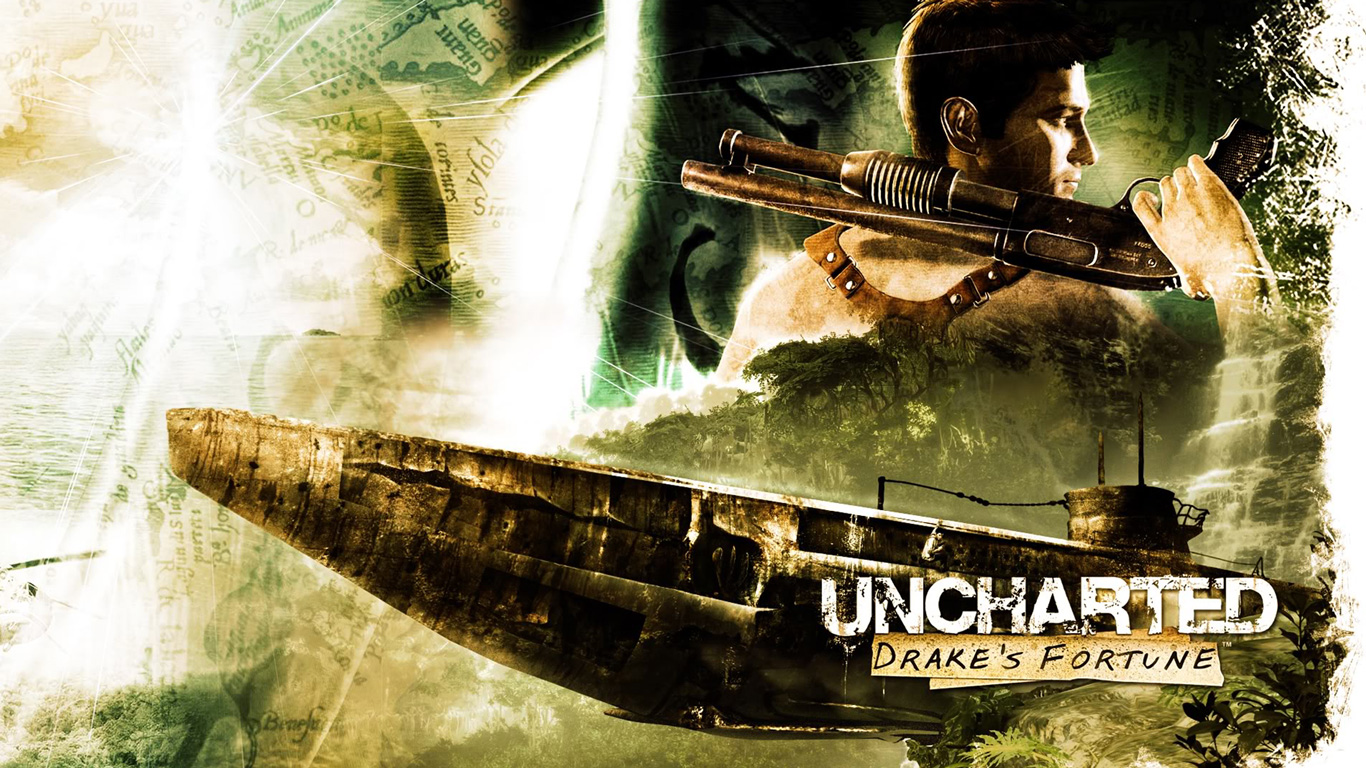 Free Uncharted: Drake's Fortune Wallpaper in 1366x768