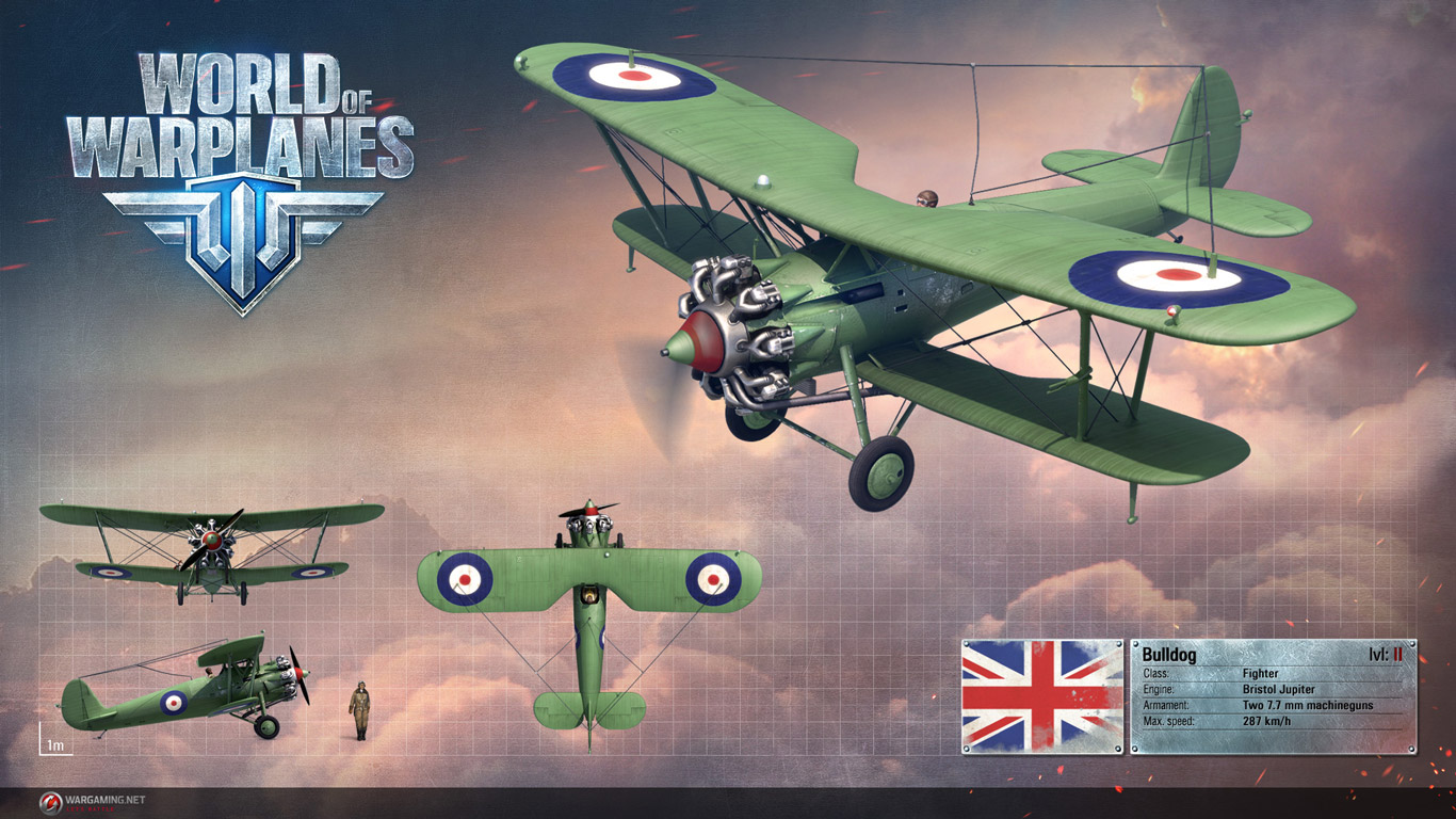 Free World of Warplanes Wallpaper in 1366x768