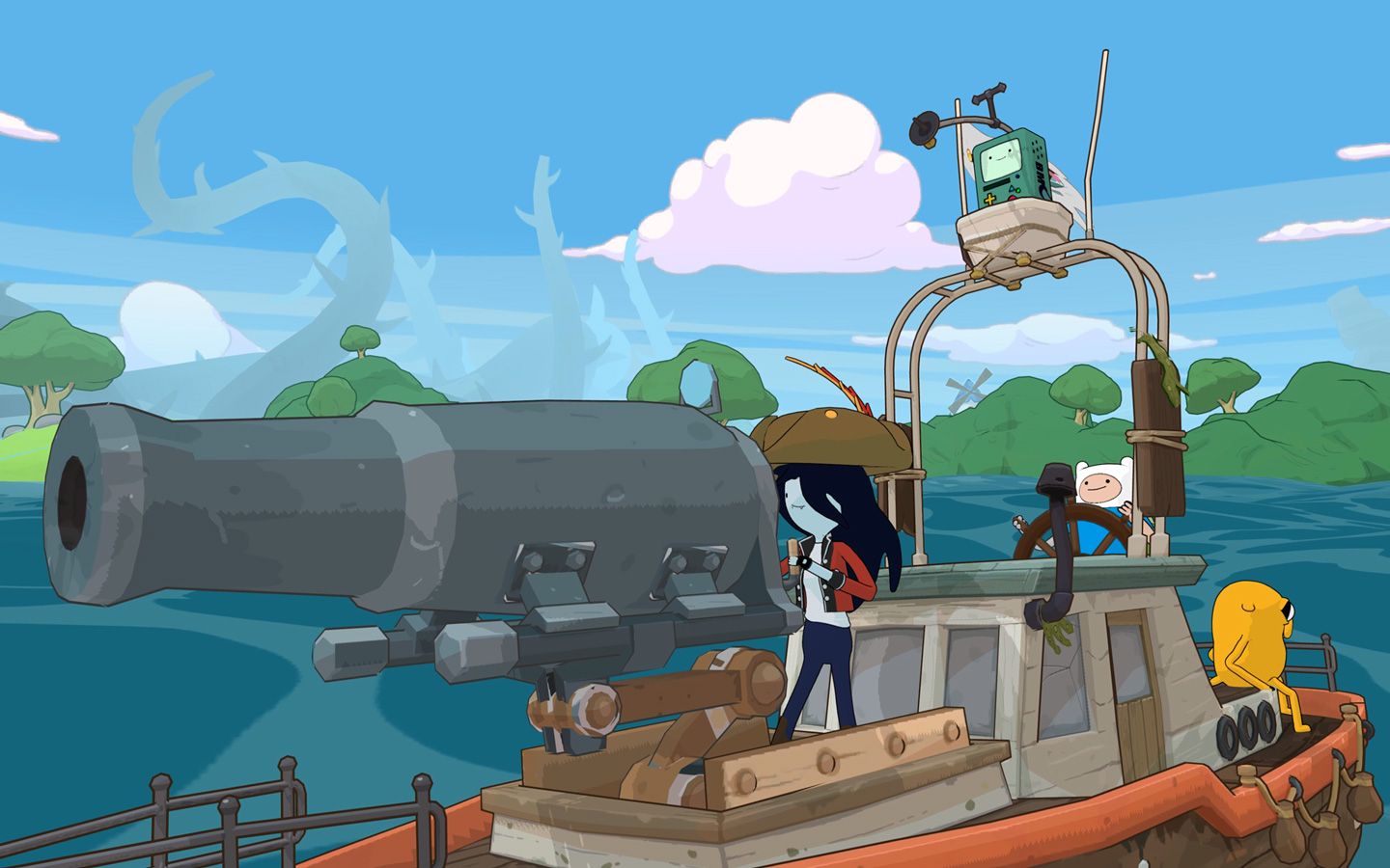 Free Adventure Time: Pirates of the Enchiridion Wallpaper in 1440x900