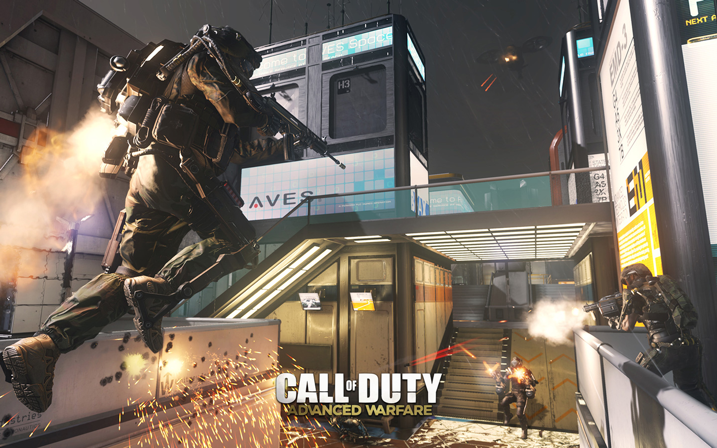 Free Call of Duty: Advanced Warfare Wallpaper in 1440x900