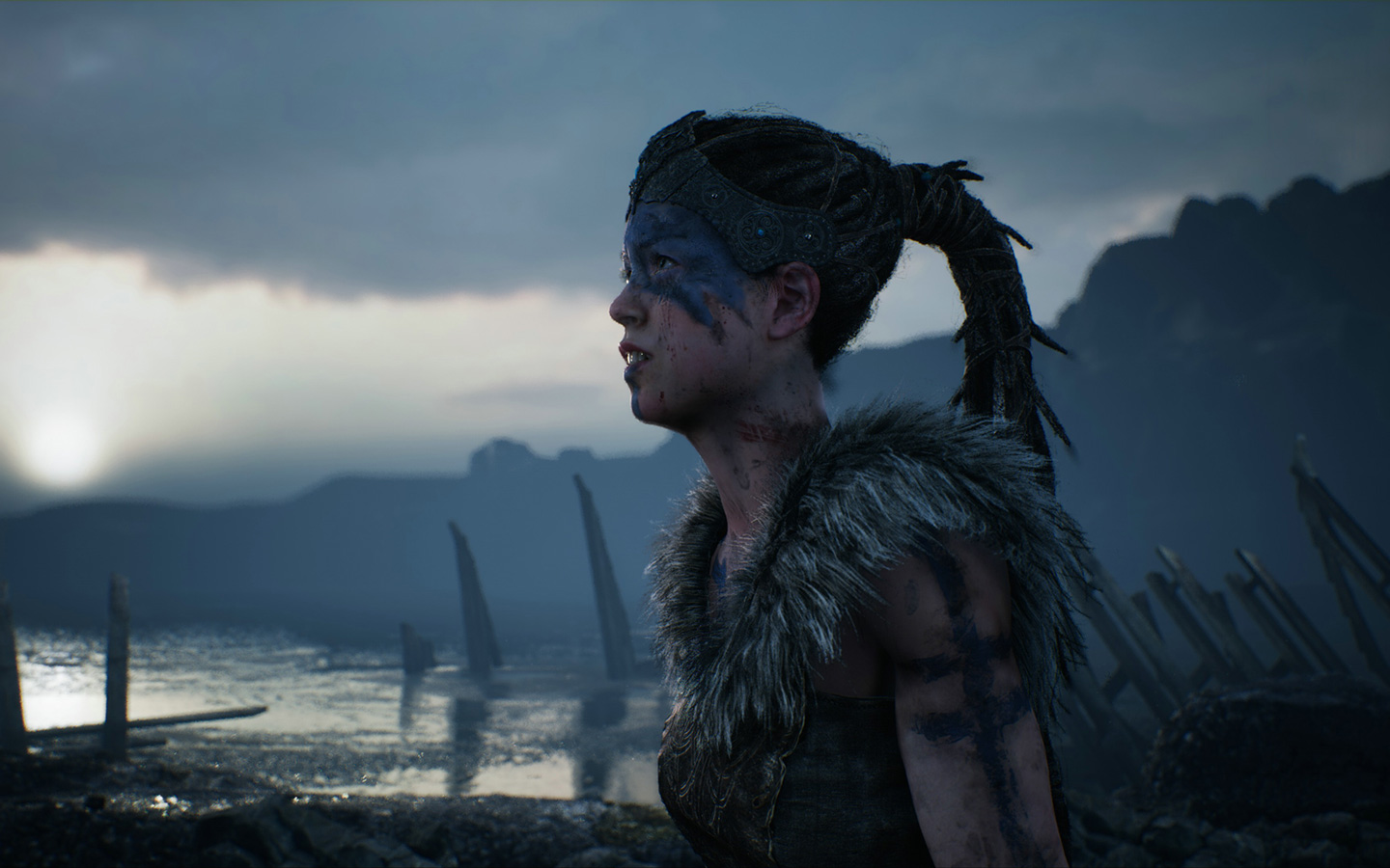 Free Hellblade: Senua's Sacrifice Wallpaper in 1440x900