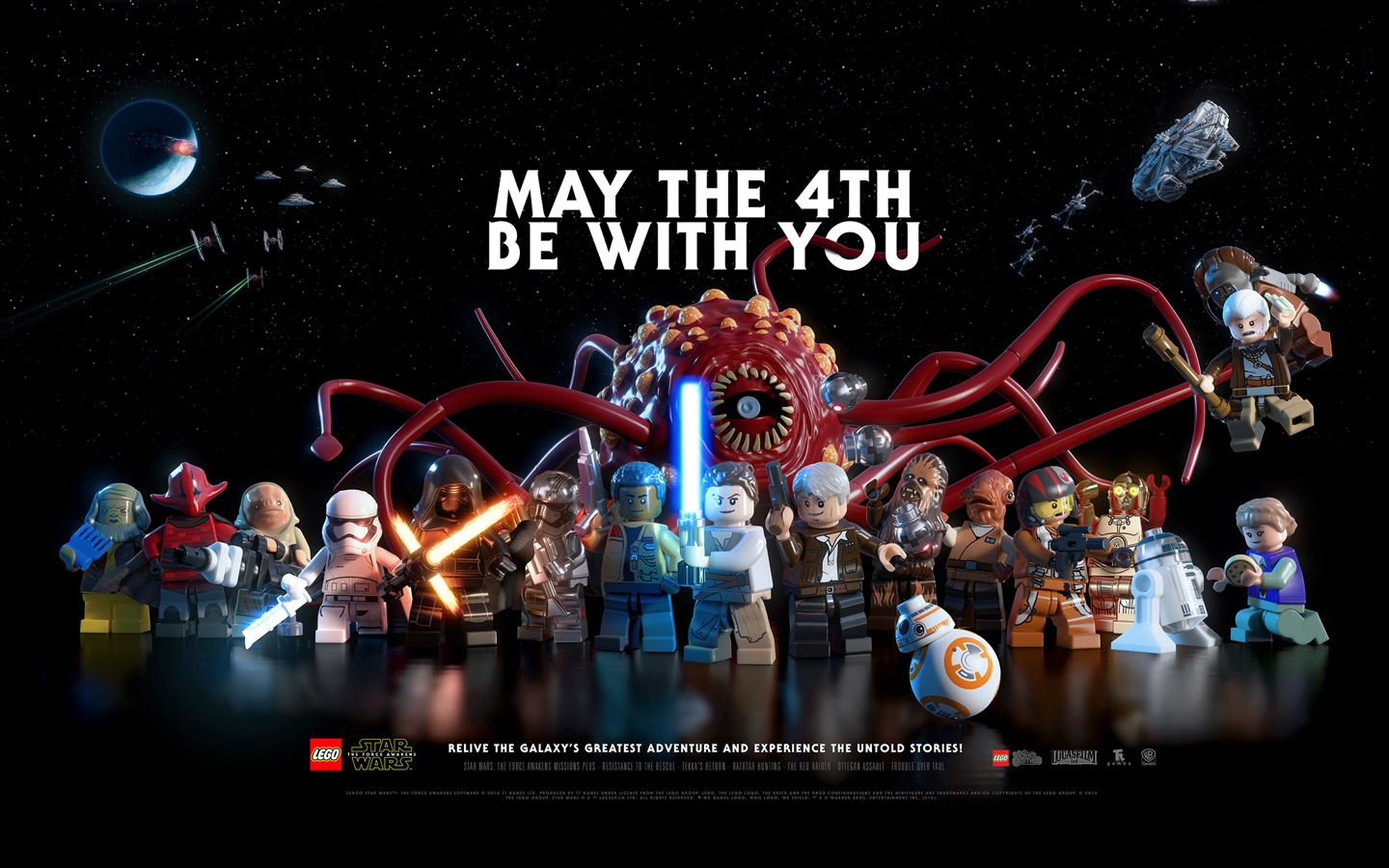 Lego Star Wars: The Force Awakens Wallpaper in 1440x900