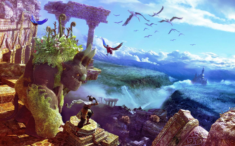 Free Majin and the Forsaken Kingdom Wallpaper in 1440x900
