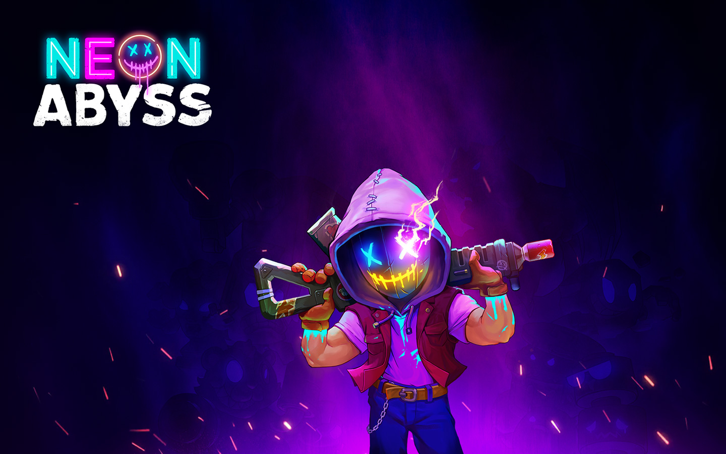 Neon Abyss Wallpaper in 1440x900