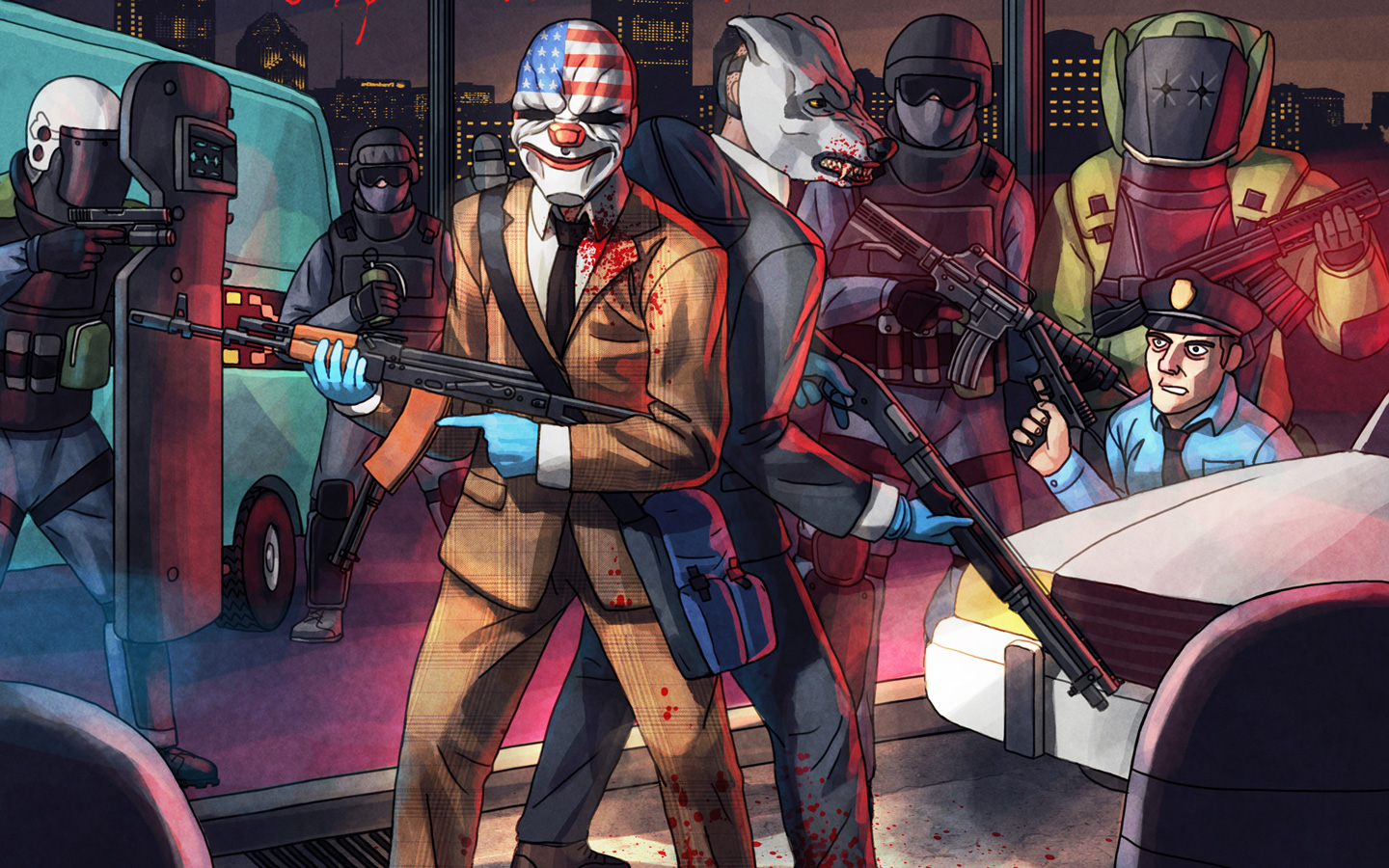 Free Payday 2 Wallpaper in 1440x900