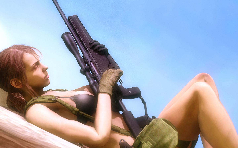 Quiet, Metal Gear Solid V: The Phantom Pain, night, screen