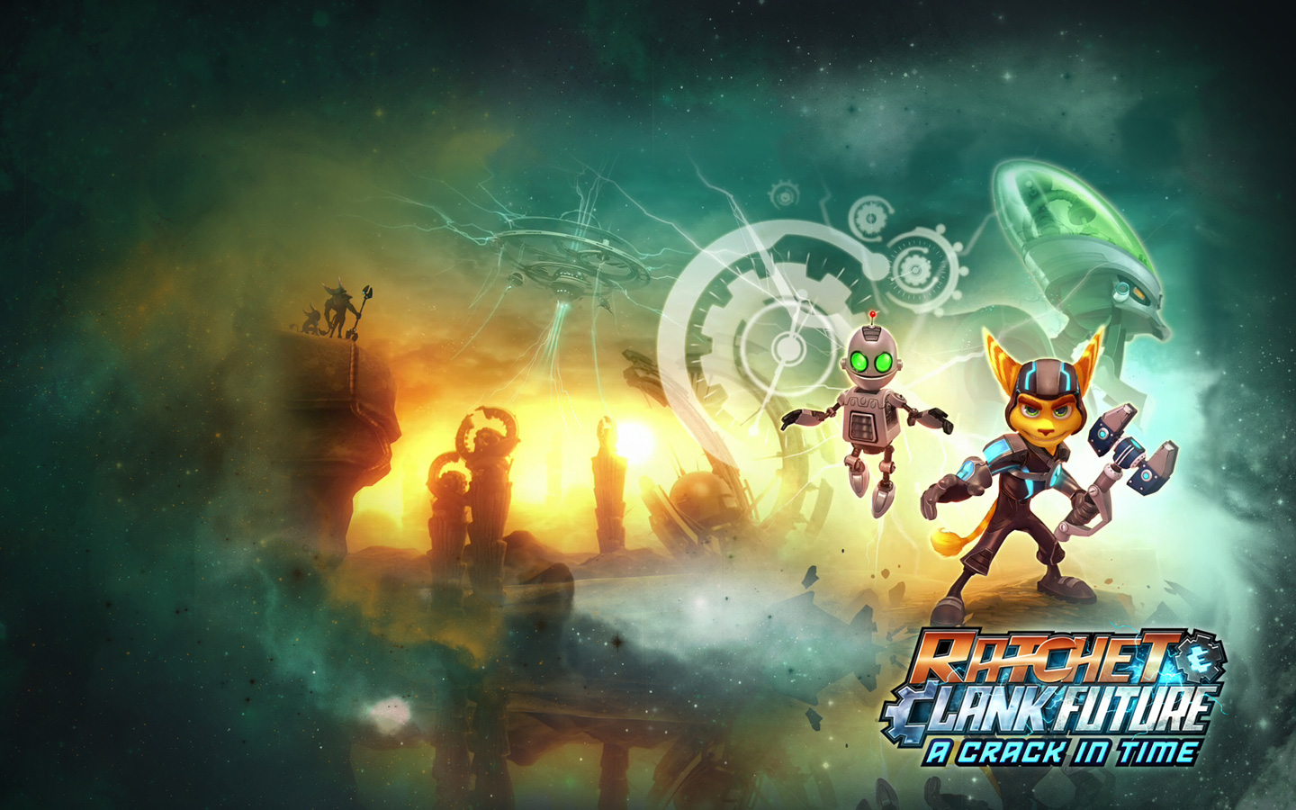 Free Ratchet & Clank Future: A Crack in Time Wallpaper in 1440x900