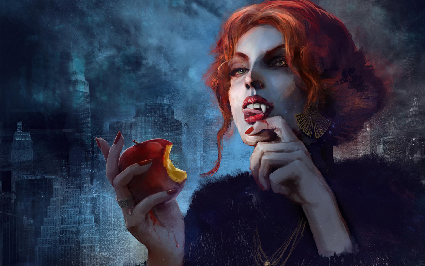 Free Vampire: The Masquerade - Coteries of New York Wallpaper in 1440x900