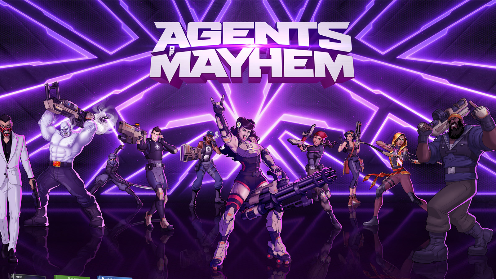 Free Agents of Mayhem Wallpaper in 1600x900