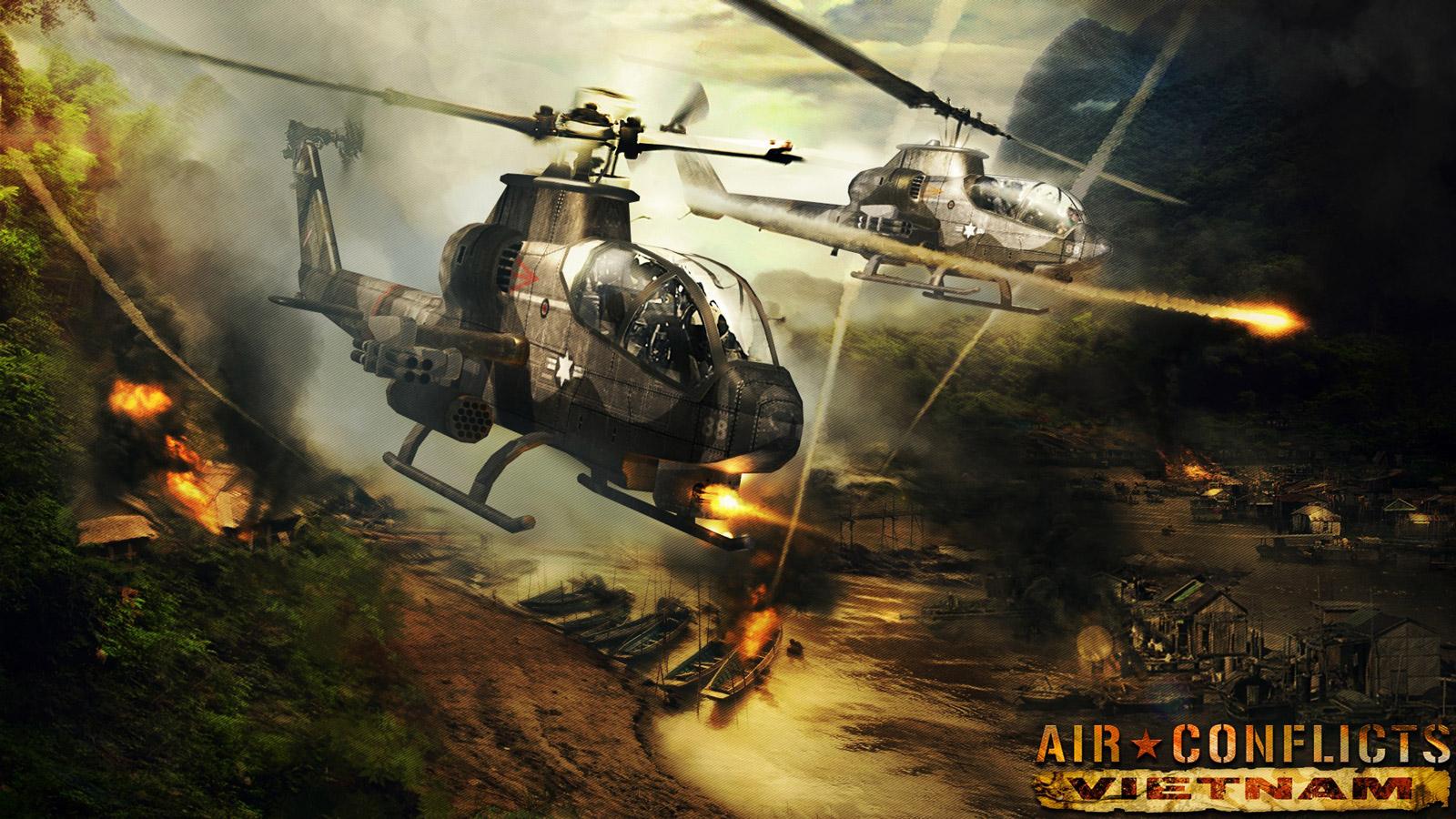 Air Conflicts: Vietnam Wallpaper in 1600x900