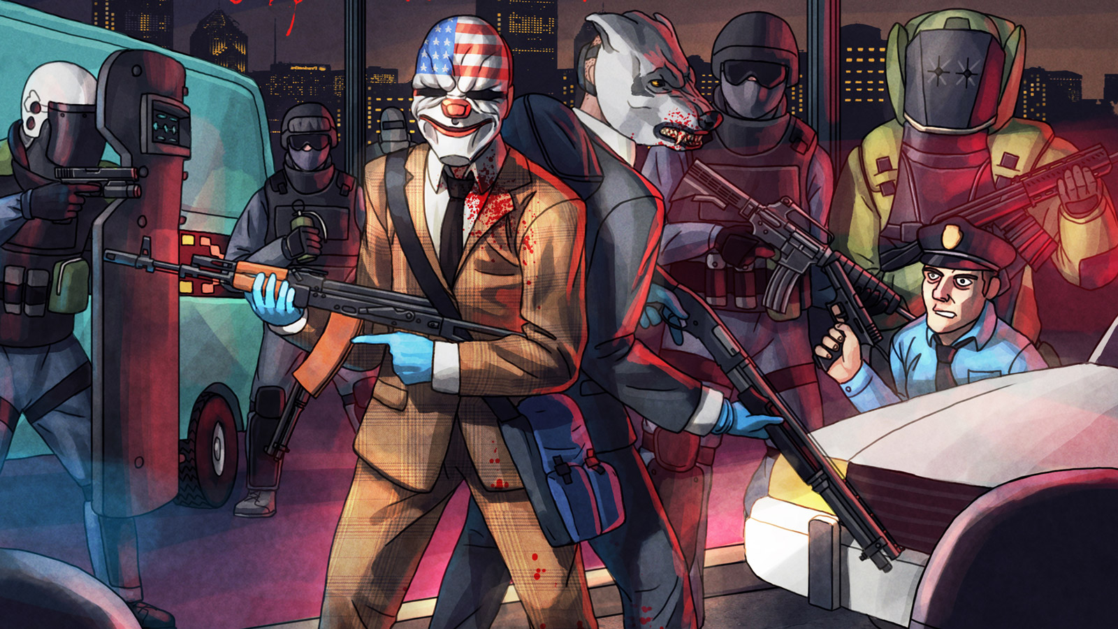 Free Payday 2 Wallpaper in 1600x900