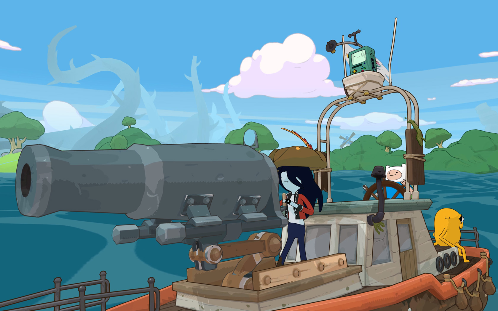 Free Adventure Time: Pirates of the Enchiridion Wallpaper in 1680x1050