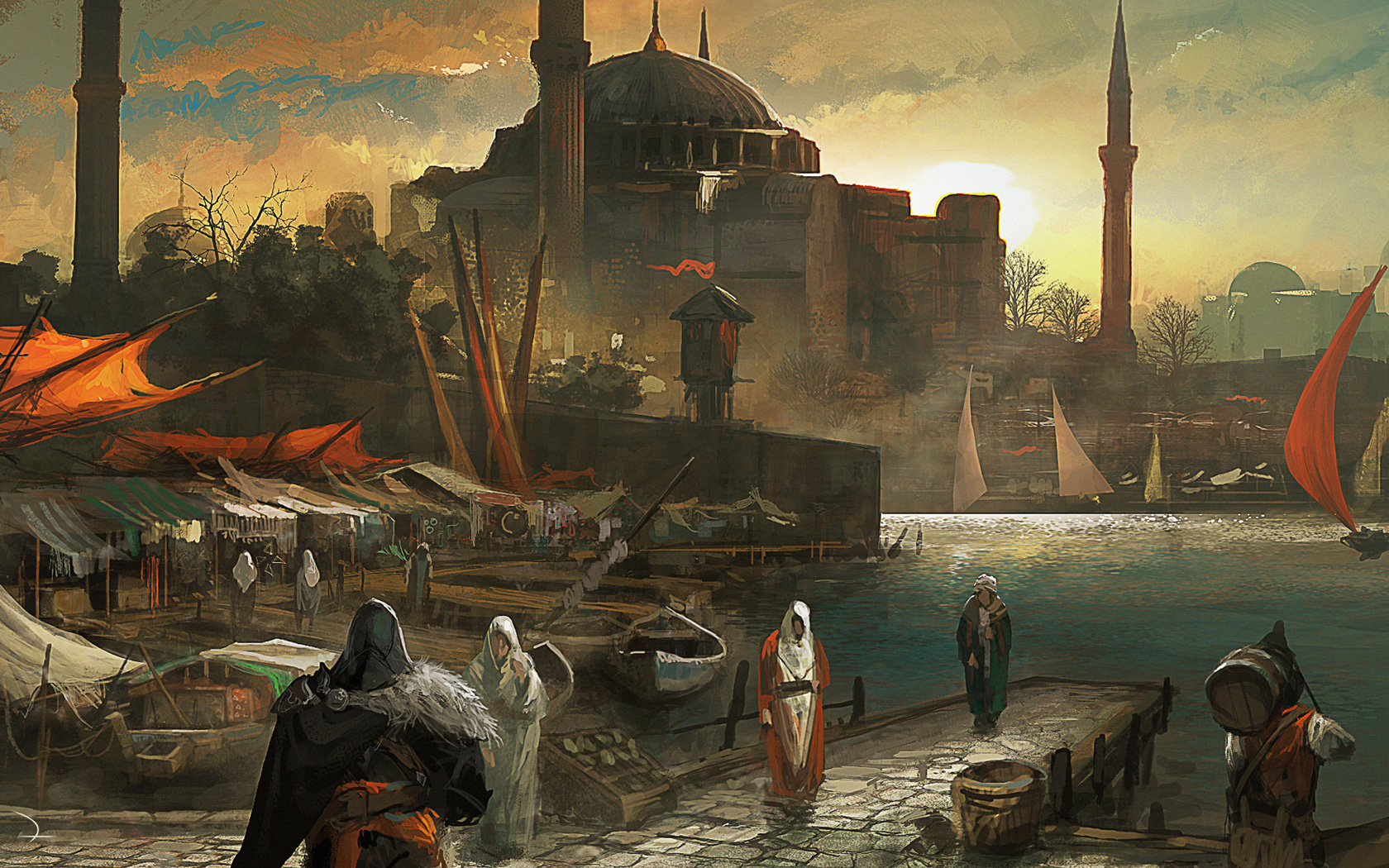 Free Assassin's Creed: Revelations Wallpaper in 1680x1050