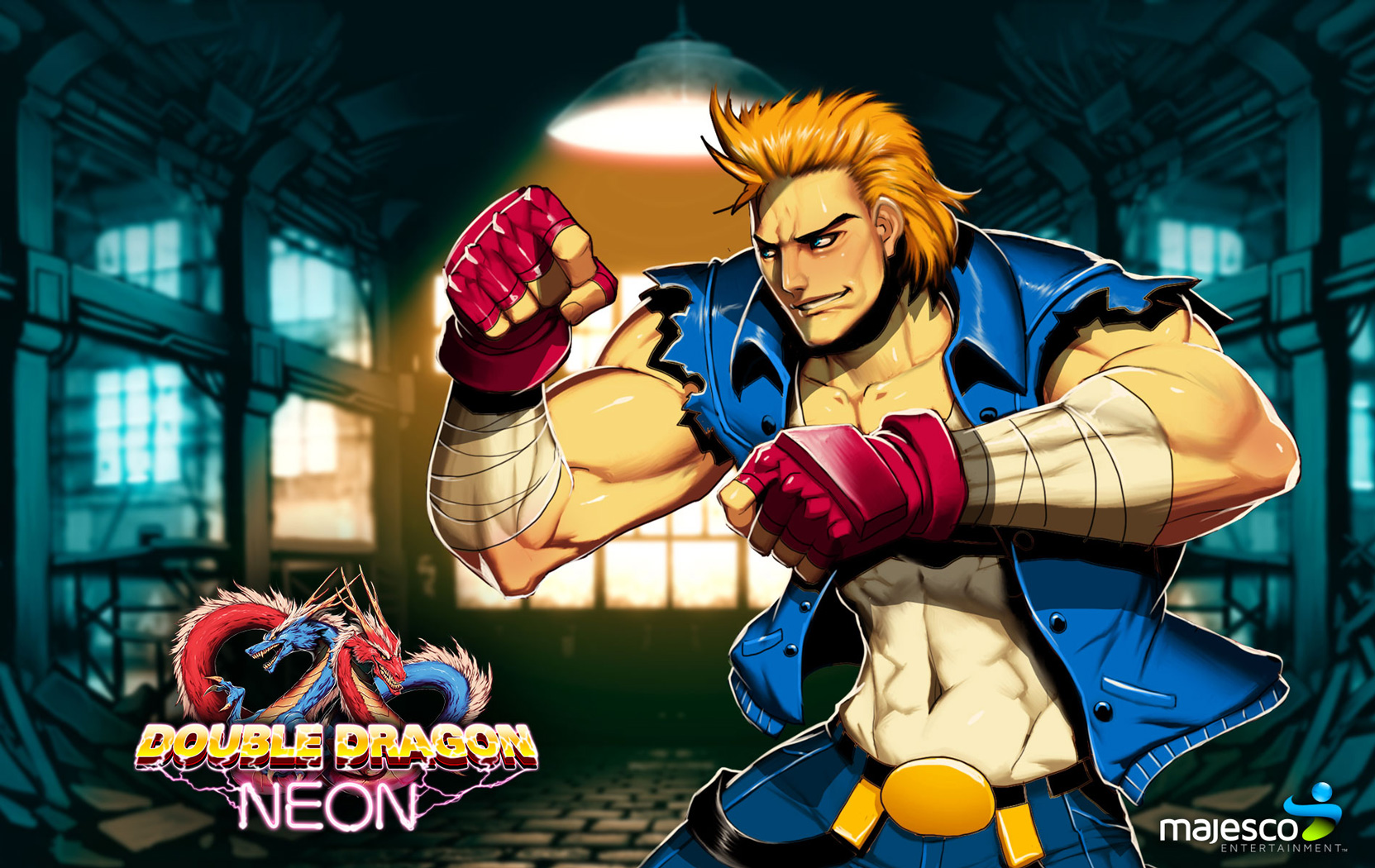 Free Double Dragon Neon Wallpaper in 1680x1050