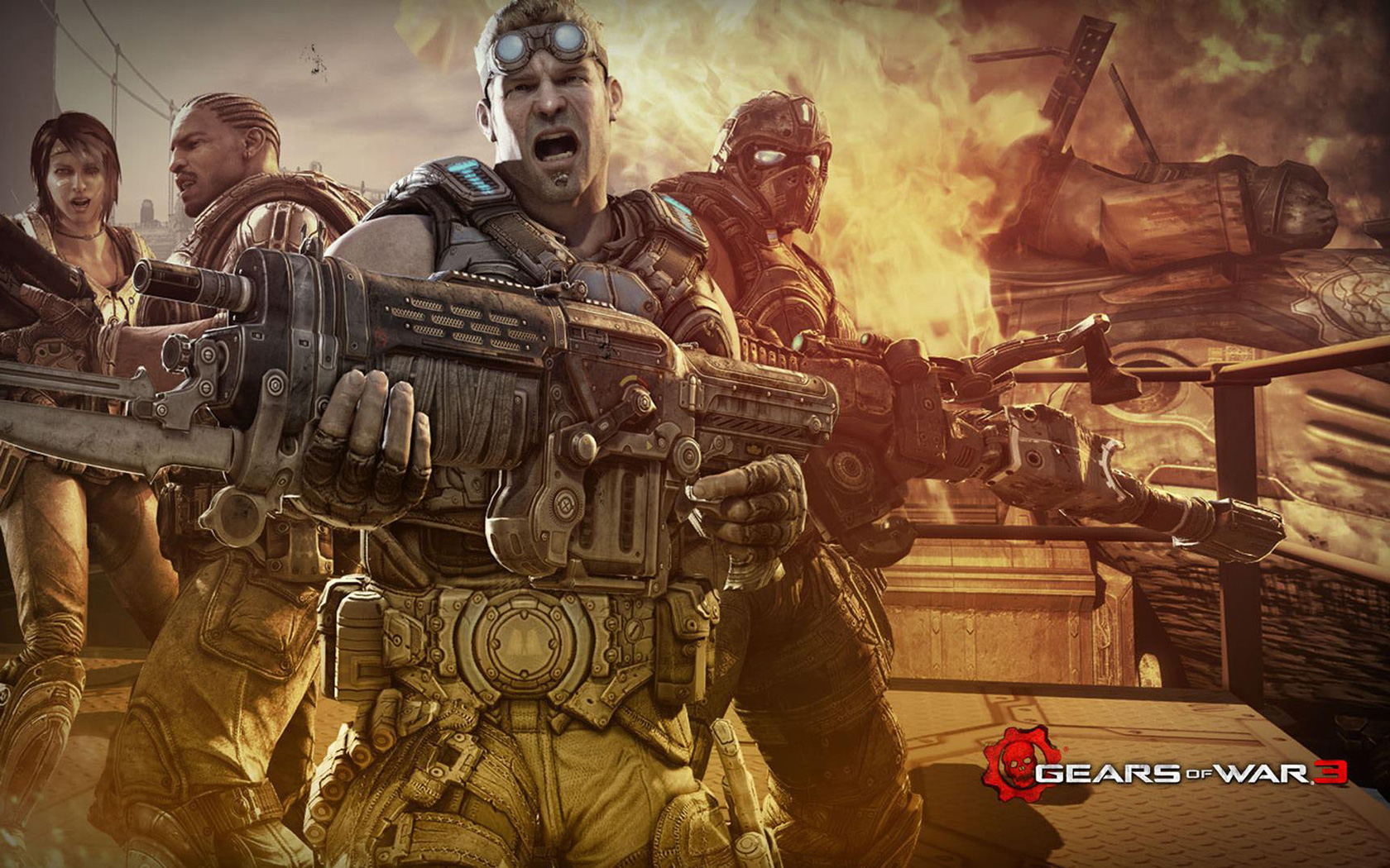 Gears of War 3 Wallpaper in 1680x1050