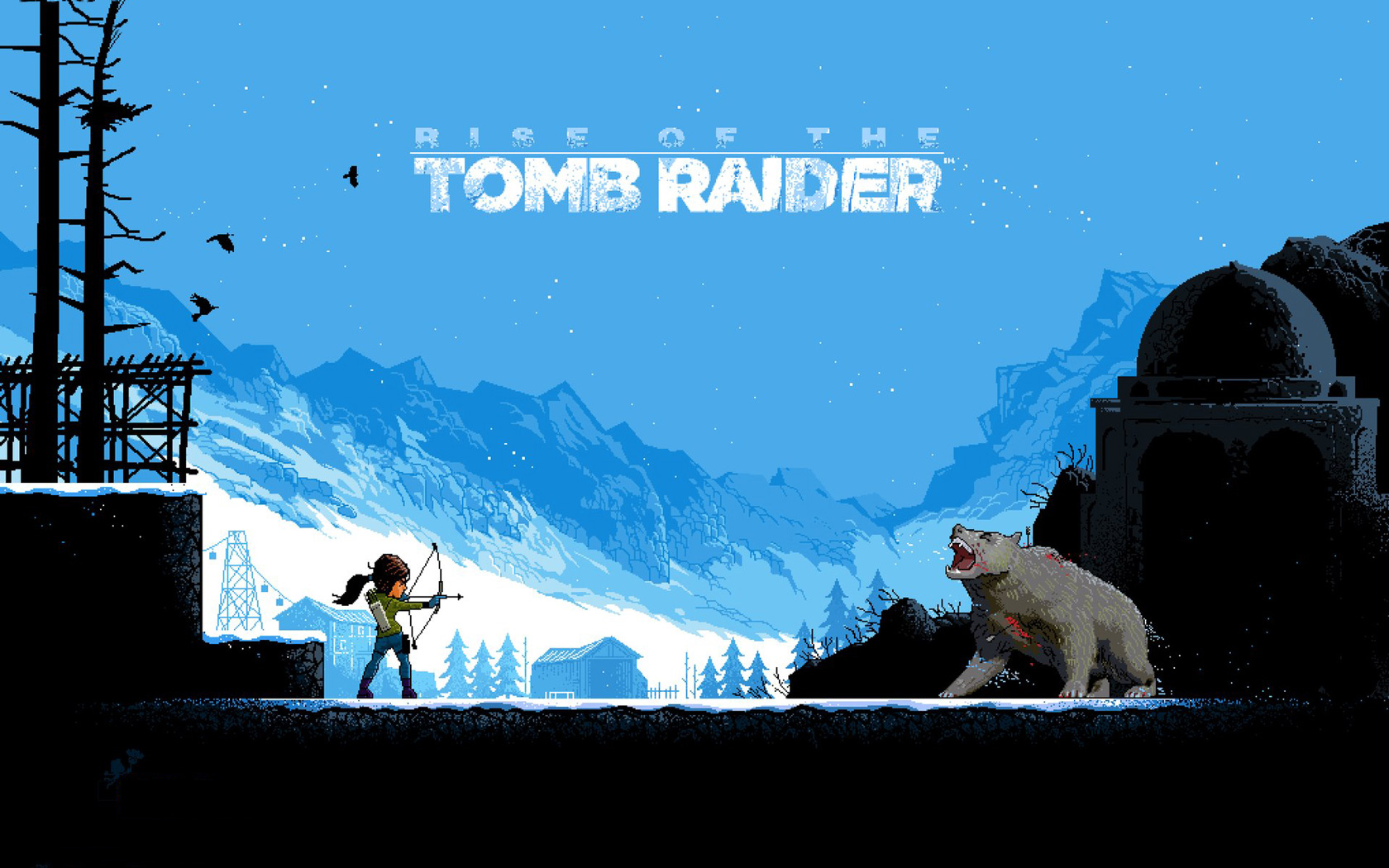 Free Rise of the Tomb Raider Wallpaper in 1680x1050