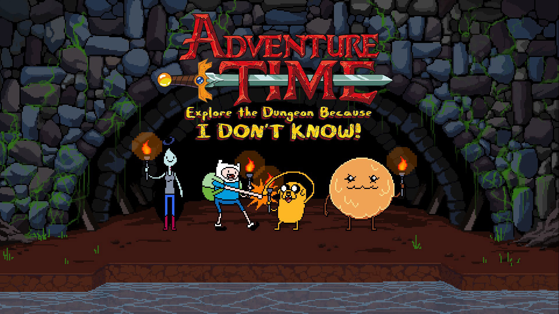 Adventure Time: Explore the Dungeon Because I DON'T KNOW! Wallpaper in 1920x1080