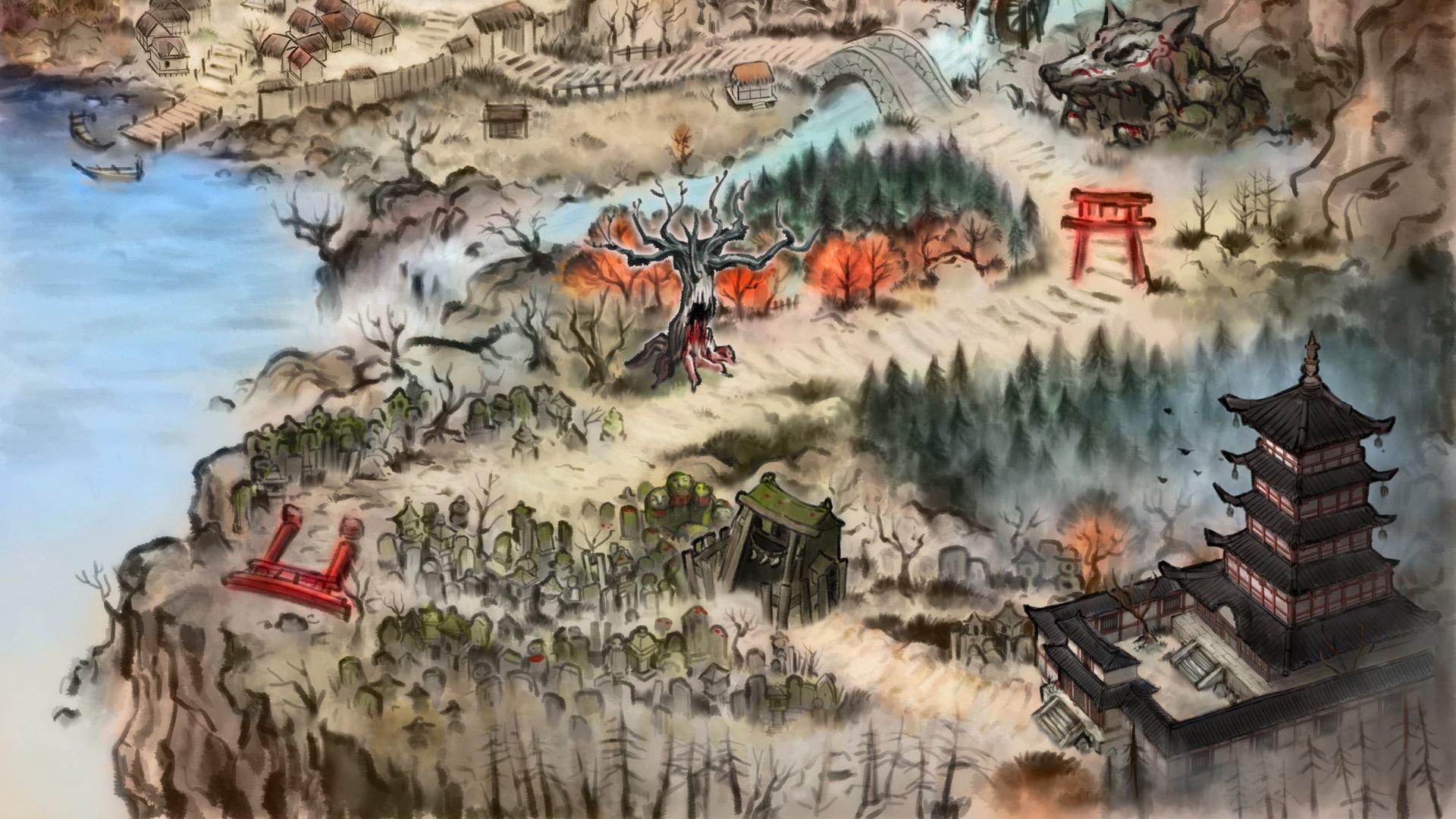 Free Akaneiro: Demon Hunters Wallpaper in 1920x1080