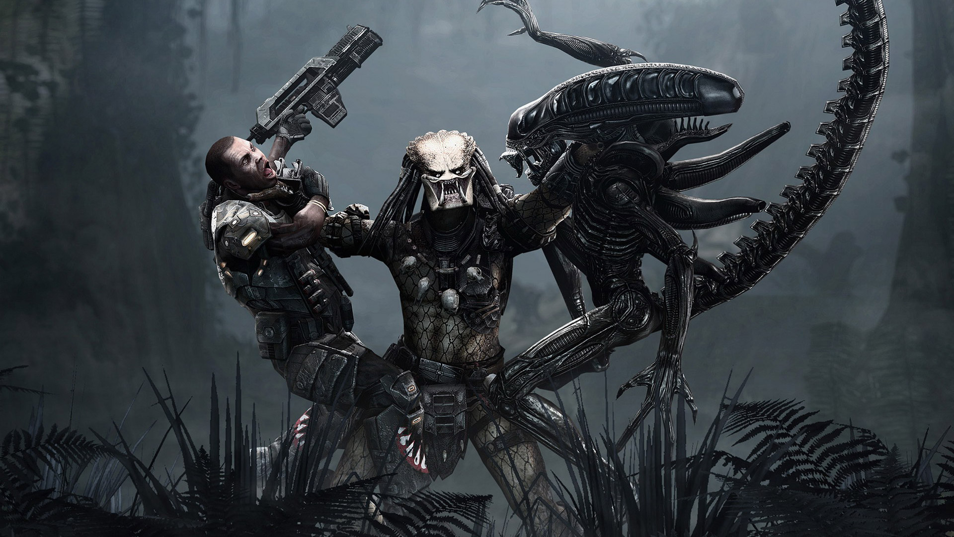 Free Aliens vs Predator Wallpaper in 1920x1080