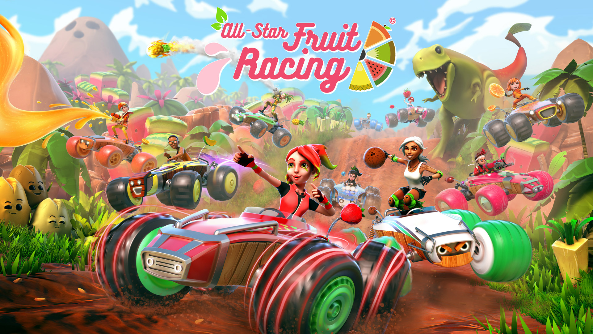 All-Star Fruit Racing Wallpaper in 1920x1080