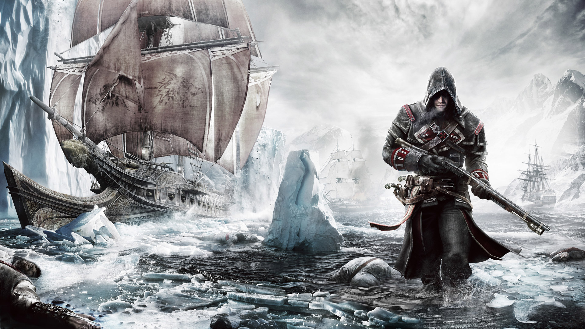 Free Assassin's Creed: Rogue Wallpaper in 1920x1080