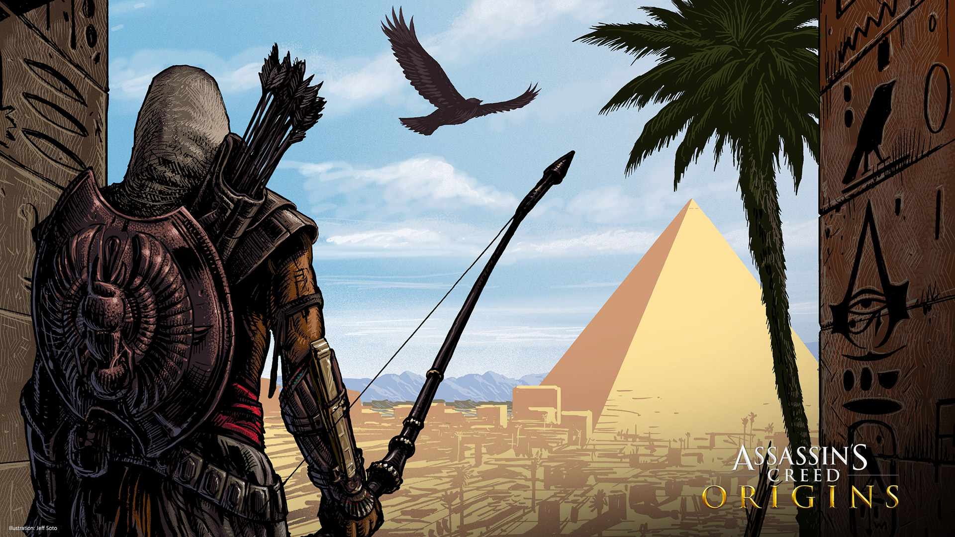 Assassin's Creed Origins Wallpaper in 1920x1080
