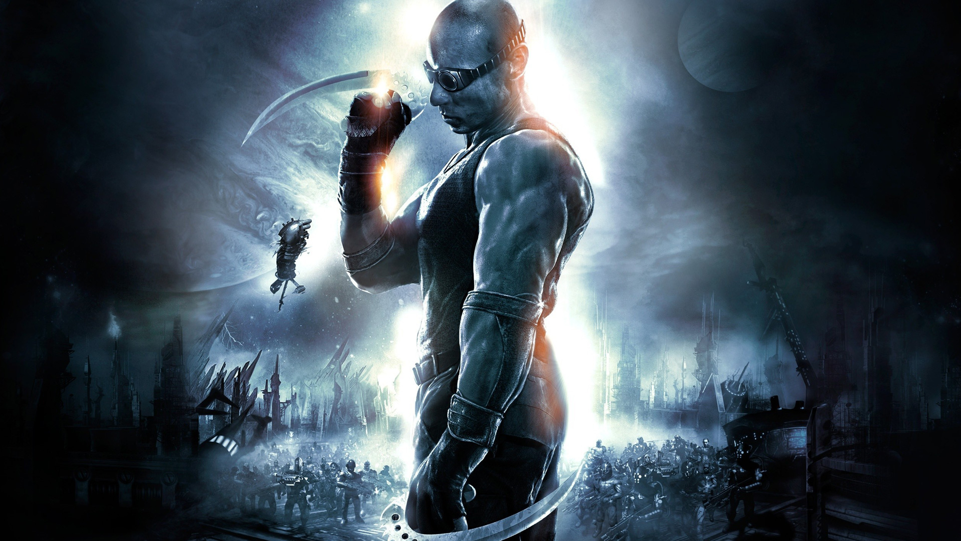 Free The Chronicles of Riddick: Assault on Dark Athena Wallpaper in 1920x1080