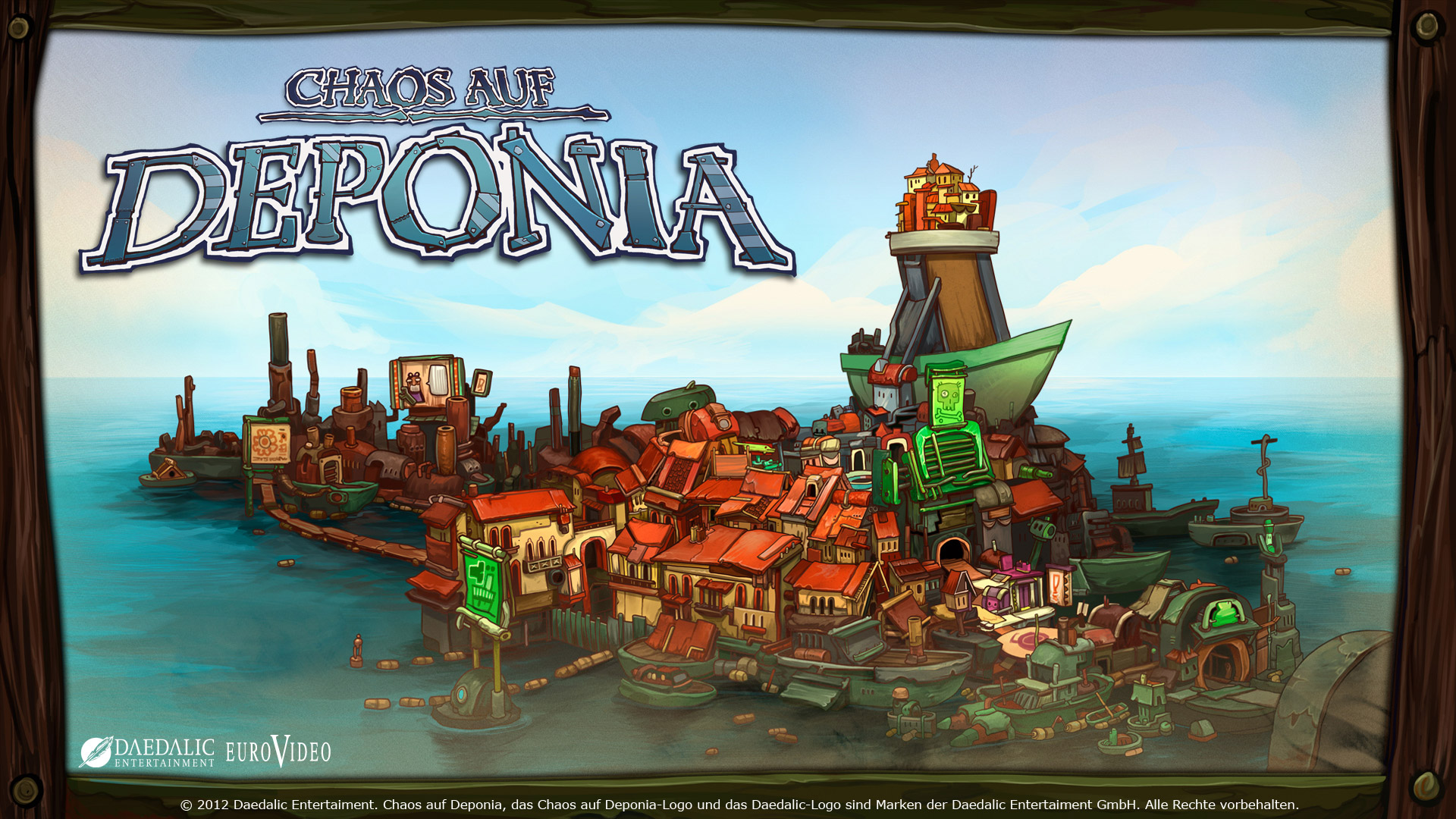 Free Chaos on Deponia Wallpaper in 1920x1080