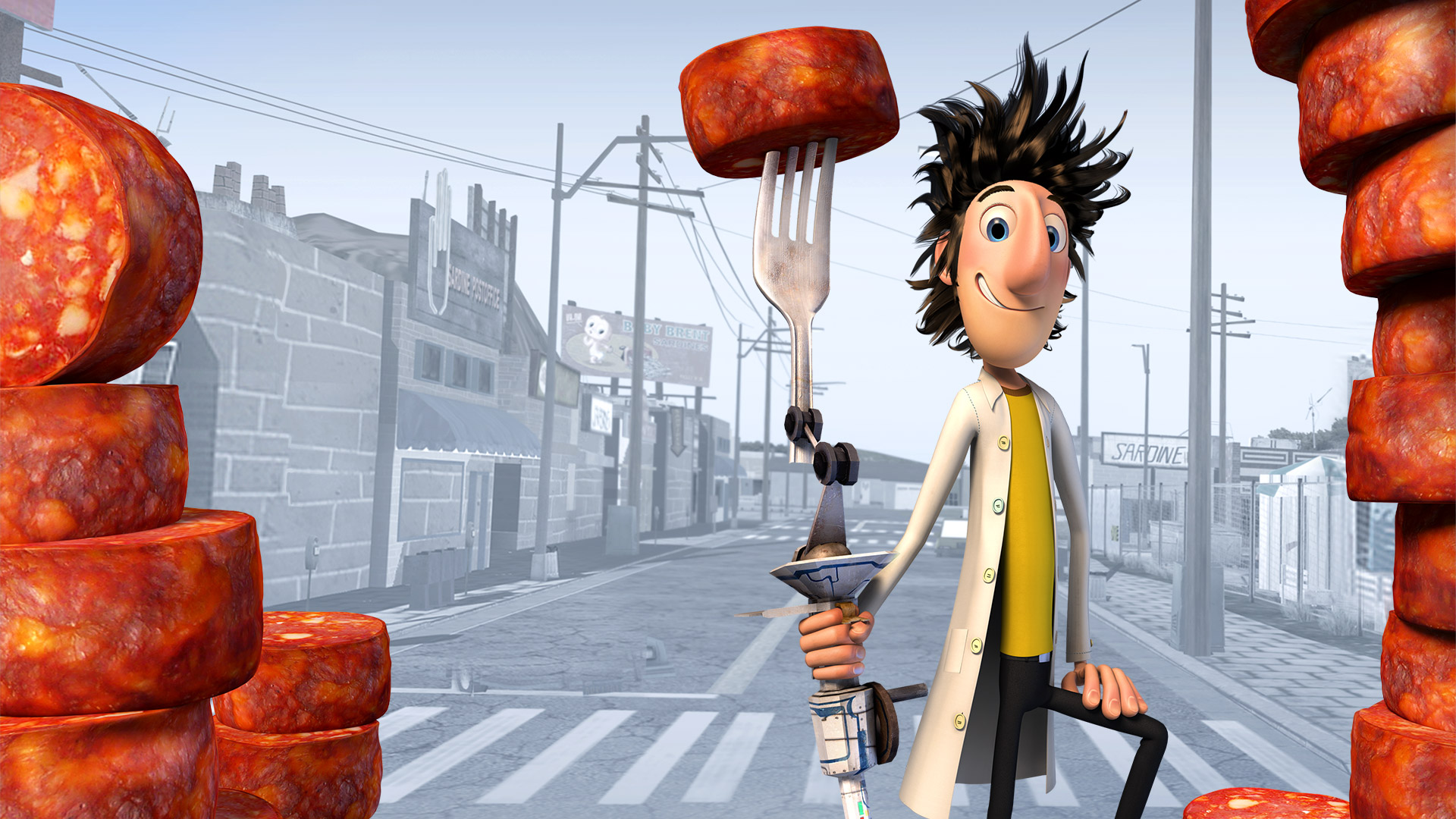 Cloudy with a Chance of Meatballs Wallpaper in 1920x1080