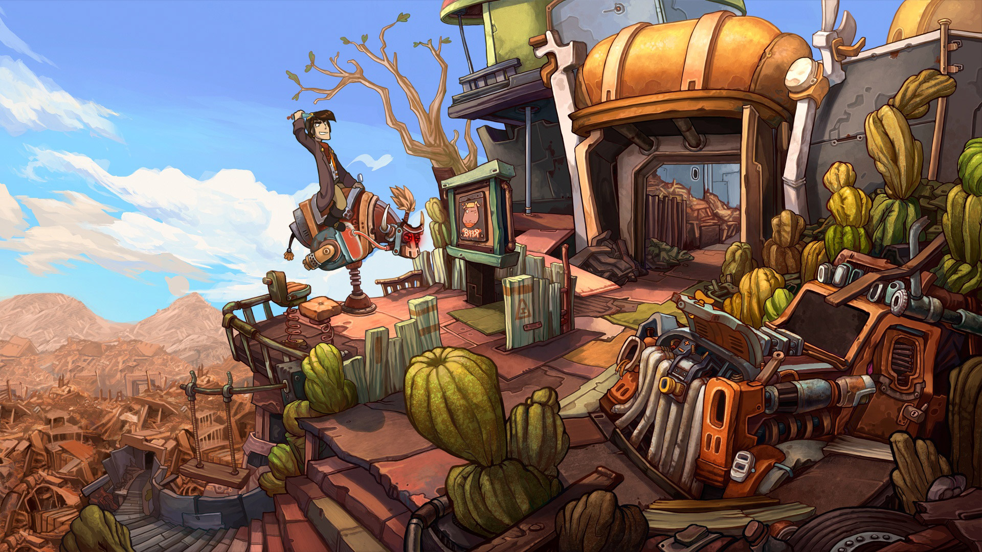 Free Deponia Wallpaper in 1920x1080
