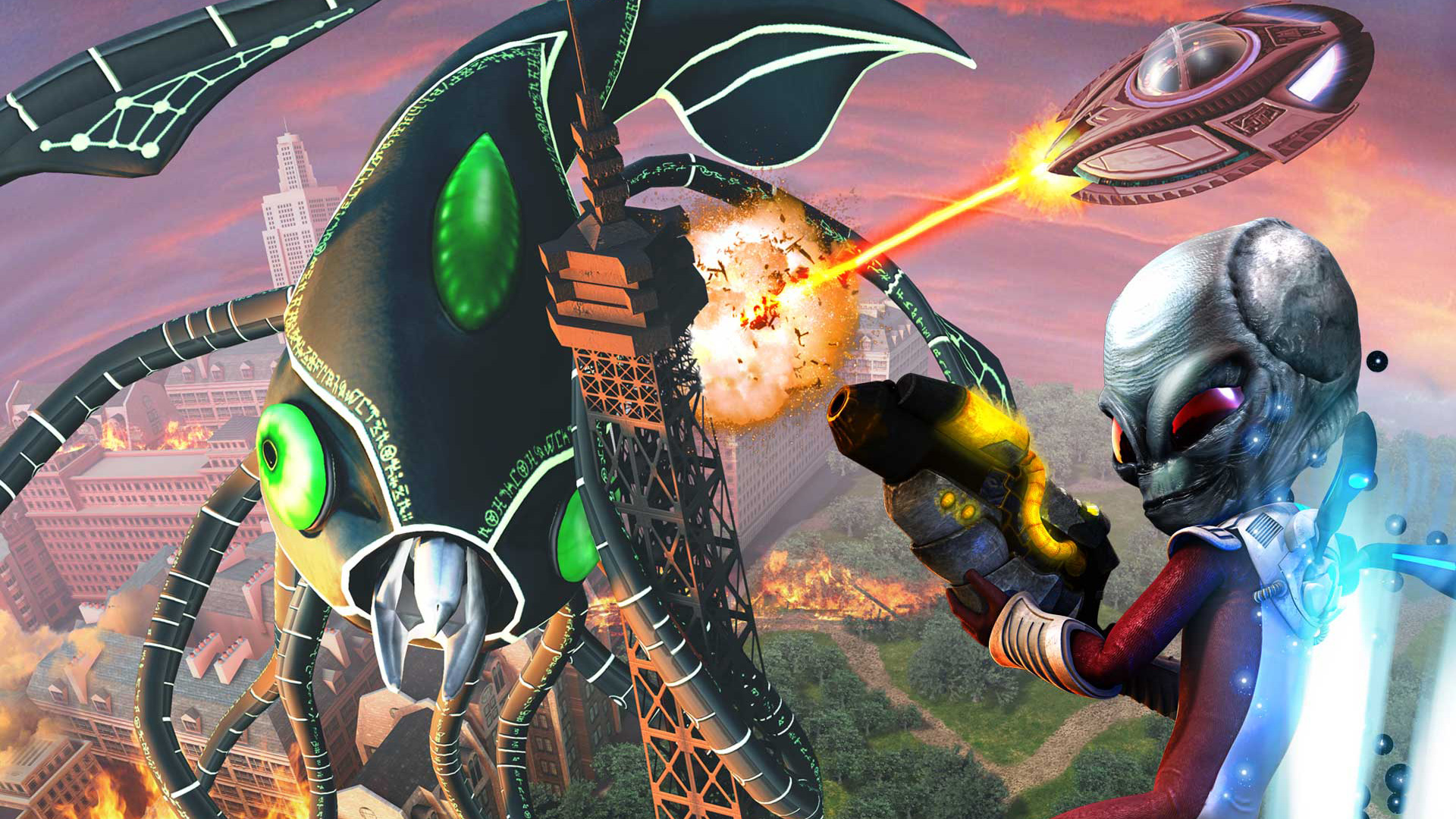 Destroy All Humans! Path of the Furon Wallpaper in 1920x1080